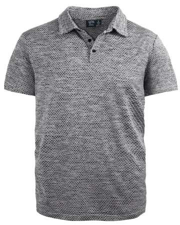 Made in USA Men's Waffle Jacquard Polo