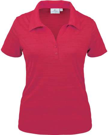 380-TSJ Tiger Stripe Jersey Ladies' Y-Placket Polo