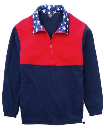 9490-MFL Patriotic 1/2 Zip Pullover