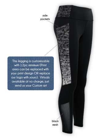 Made in USA leggings Mesh Panels