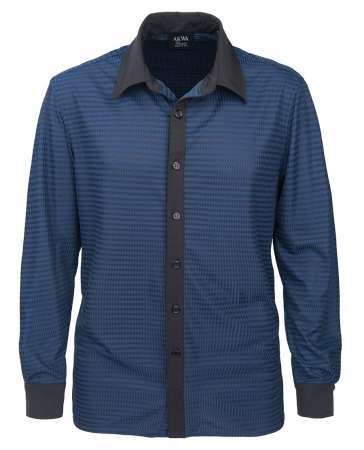 1628-DNC Men's Dress Shirt Drop Needle Check