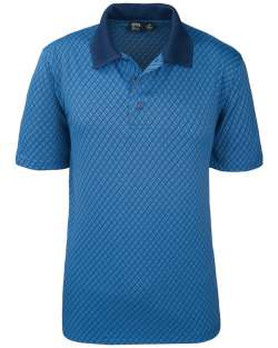 Made in USA Men's Polo Diamond Jacquard