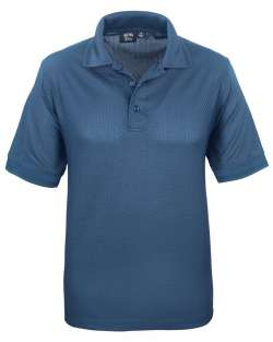 Made in USA 1376-BKW Mens Basket Weave Polo