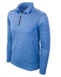2480-TSJ Men's Long Sleeve Quarter Zip Polo Tiger Stripe Jersey