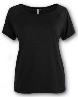 Women's Raglan Tee with Shoulder Mesh Panels