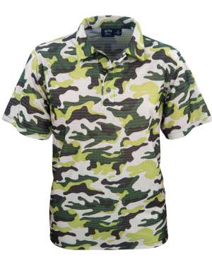 Made in USA Men's Camouflage Print Polo