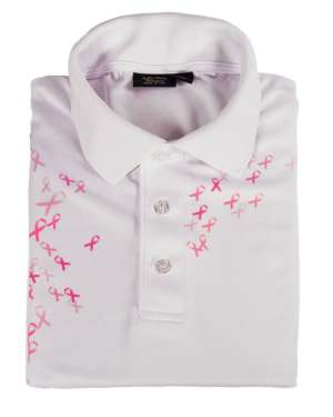 Made in USA Breast Cancer Awareness Men's Polo