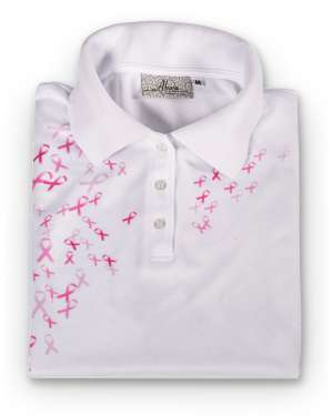 Made in USA Breast Cancer Awareness Women's Polo