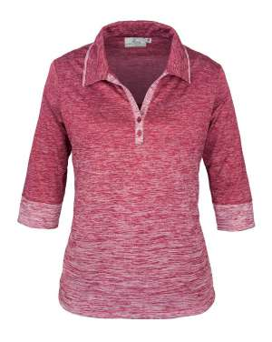 Made in USA Women Polo Shirt 381-OBJ Ladies' 3/4 Sleeve Top