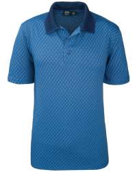 1367-DJP Men's Polo Diamond Jacquard