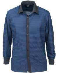 1628-DNC Men's Dress Shirt Drop Needle Check