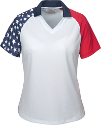 236-PTM Ladies' Patriotic Polo