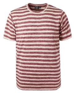 1082-OBS Men's Ombre Stripe Novelty Tee (Custom)