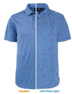 1313-DNR Men's Reflective Print Polo