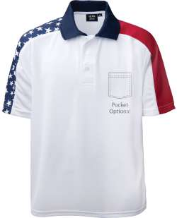 1346-PTM Men's Patriotic Polo