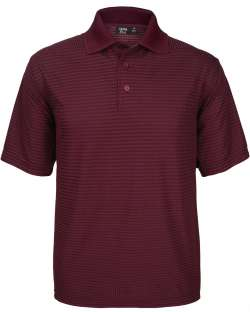 Made in USA Men's Polo Drop Needle Check