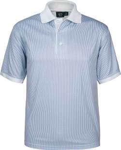 1369-SPP*BLUE Blue Stripe Men's Polo Sublimated