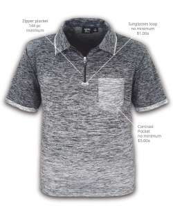 american made ombre men's polo