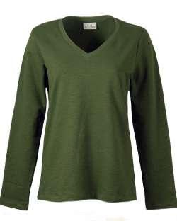 245-SBT Ladies' V-Neck Pullover
