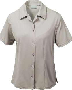 368-AQD Ladies' Dry Wicking Camp Shirt