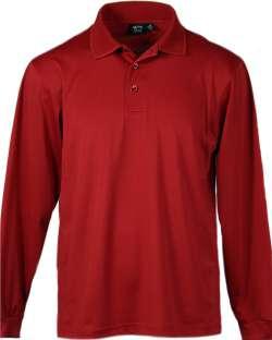 LS1342-AQD Men's Long Sleeve Polo