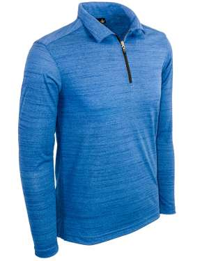 Made in USA Men's Long Sleeve Quarter Zip Polo