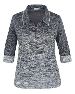 made in usa ombre ladies's polo