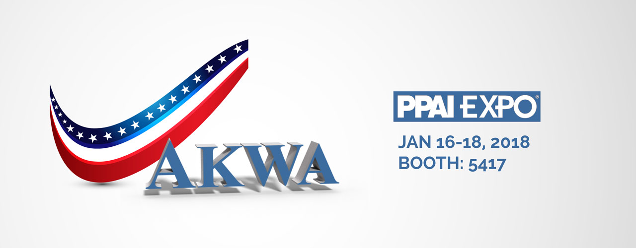 PPAI EXPO 2018 Trade Show AKWA USA Apparel American Made Garments