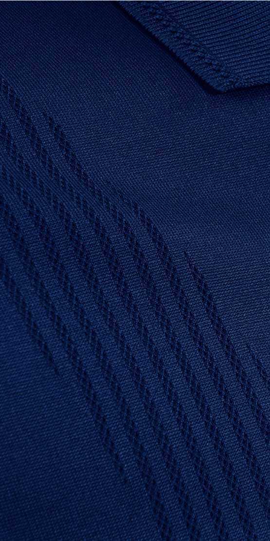 bodymapping polo closeup navy