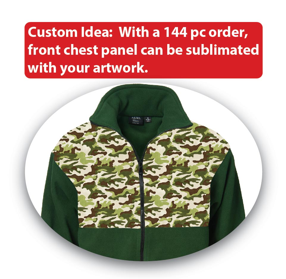 custom fleece jacket made in usa