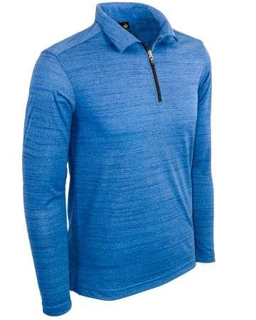 Made in USA Men's Long Sleeve Quarter Zip Polo