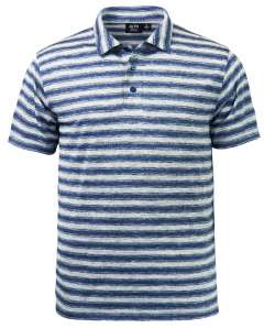 1382-OBS Men's Ombre Stripe Polo
