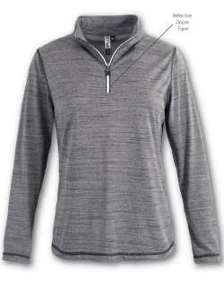 Made in USA Women's Quarter-Zip Top with Reflective Taping