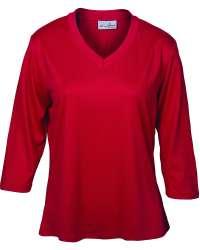 162-SPJ Ladies' 3/4 Sleeve V-Neck Tee