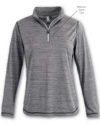 T-3001 Aflex Women's Quarter-Zip Top with Reflective Taping