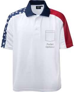 1346-PTM Men's Patriotic Polo