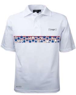 1372-PTM*WHT Men's Patriotic Polo