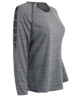 aflex Women's Long Sleeve with Open Shoulder Top