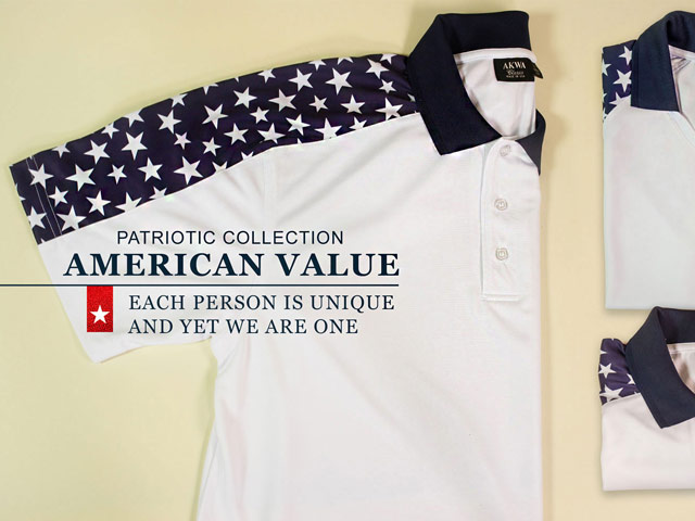 made in usa patriotic polo shirts akwa collection