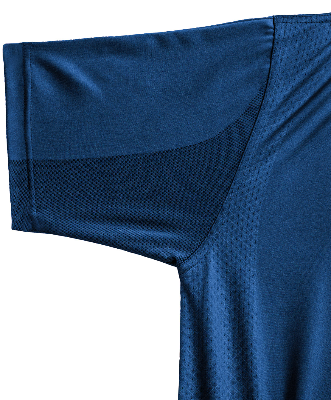 body mapping polo shirt closeup navy