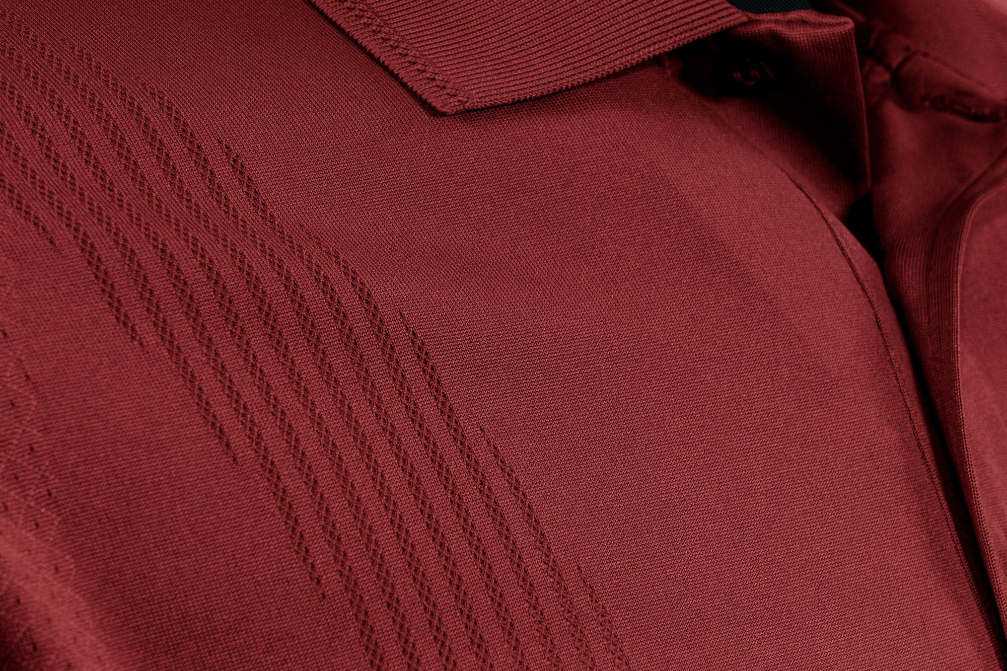 bodymapping polo shirt closeup